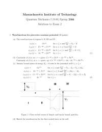 Piecewise Constant Potential - Quantum Physics - Solved Past Exam