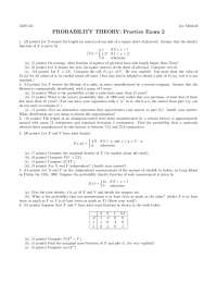 Fraction - Probability Theory - Exam