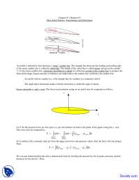 Thin Airfoil Theory - Aerodynamics - Lecture Notes