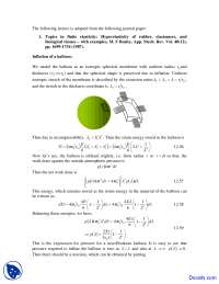 Inflation of Balloon - Mechanics of Soft Materials - Lecture Notes