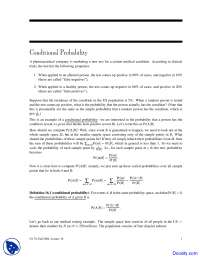 Conditional Probability - Discrete Mathematics and Probability Theory - Lecture Notes
