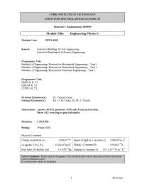 Decay Equation - Engineering Physics - Past Exam Paper