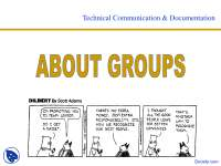About Groups - Technical Communication - Lecture Slides