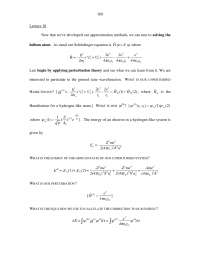 Helium Atom - Physical Chemistry - Lecture Notes