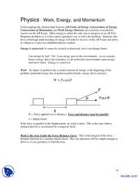 Energy Momentum - Advance Physics - Lecture Notes