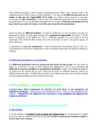 Notes sur les principes de mutation des engagements - 3° partie