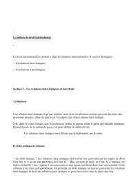 Notes sur la notion de droit international