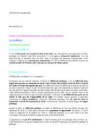 Notes sur les principes de mutation des engagements - 2° partie.