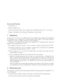 Algorithms - Introduction to Cryptography - Lecture Notes
