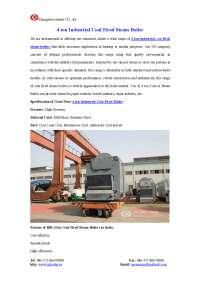 4 ton industrial coal fired steam boiler