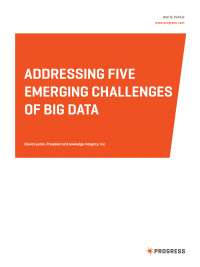 Addressing five emerging challenges of big data
