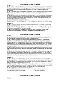 Journalism paper CE 2015 2008