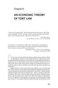 An Economic Theory of Tort Law