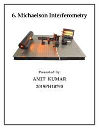 Michelson interferometry