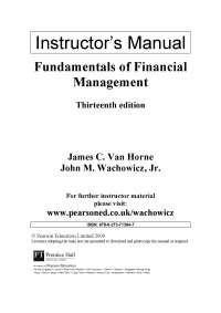 Financial MANAGMENT BOOK EXERCISE SOLUTION