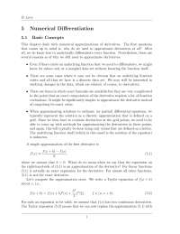 numerical analysis questions