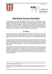 Red brand canners case study revisted