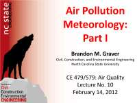 Air Pollution and metorolgy