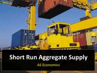Short Run Aggregate supply
