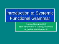 systematic functional analysis of grammer