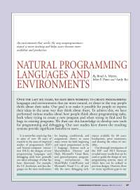 Natural Language Programming