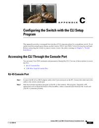 Configuring the Switch with the command line