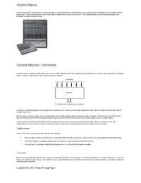 Sound Mixer and its functionalities, gain, equalizers, attenuation, pan