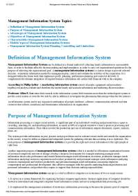 Management information System  notes-1