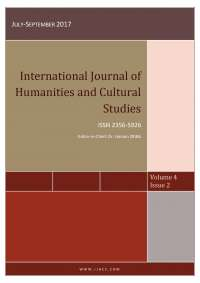 Volume 4, Issue 2 of the International Journal of Humanities and Cultural Studies (September 2017)