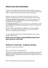 Tips on writing effectively for University
