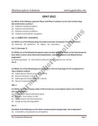 Formulation science for drug development and dosage form design GPAt solved paper 2012