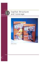 Cost of Capital and leverage of the firm