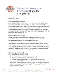 Exercise and Food Thought TIps