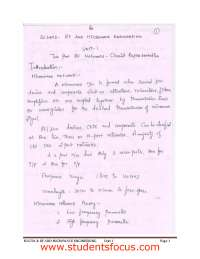 Hand Written notes for radio frequency and microwave engineering