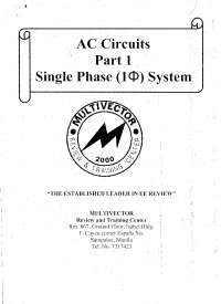 AC Circuit Reviewer (Single Phase)