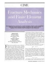 Fracture mechanics and fem for grad students