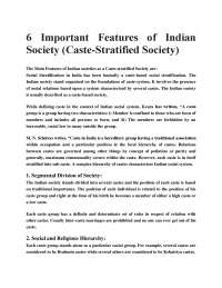 6 IMPORTANT FEATURES OF INDIAN SOCIETY