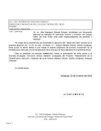 FORMATO DE DOCUMENTO - AUTORIZACION