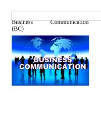 Effective Business Communication assignment for Oct 2018