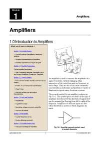 Analog electronics-Amplifiers