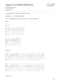 Tablature of tagpuan from ultimate guitar