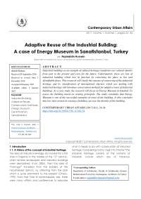 A case of Energy Museum in Sanatistanbul