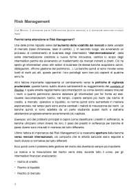 Appunti di Risk Management