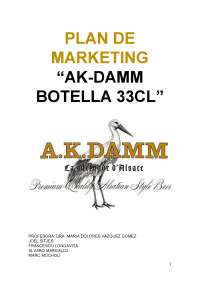 Plan de marketing AK DAMM